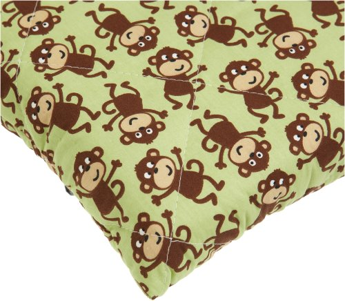 Best Review Of Carters Quilted Woven Playard Fitted Sheet, Monkey