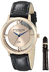 Stuhrling Original Men's 388G2.SET.03 Winchester Cathedral 16k Rose Gold-Plated Stainless Steel Watch