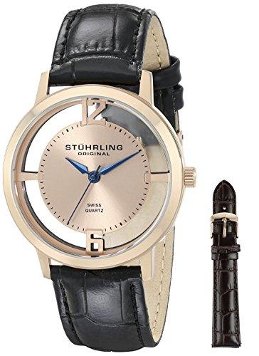Stuhrling Original Herren-Armbanduhr Cathedral Watch Set Analog Quarz 388G2.SET.03