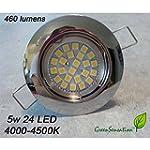 spot Chrom� � encastrer � LED GU10 5w...