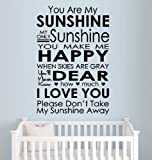 """YOU ARE MY SUNSHINE~ WALL DECAL, HOME DECOR 13"""" X 19.5"""""""