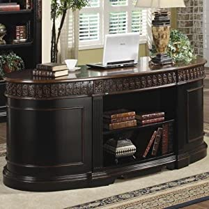 Amazon.com - Coaster Oval Shaped Executive Desk - Home Office Desks