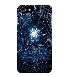 HiFi Designer Phone Back Case Cover Apple iPhone 7 :: Apple iPhone7 ( Spider Web Spider Logo )