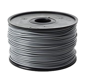 Jet- PLA (1.75mm, Grey color, 1.0kg =2.204 lbs) Filament On Spool for 3D Printer MakerBot, RepRap, MakerGear, Ultimaker and Up!