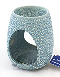 Expressive Scent Ceramic Burner for Oil and Wax Melts - Fragrance Oil Warmer Lamp BLUE 26-15
