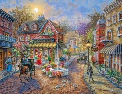 """Cobblestone Village"" 500 Piece Jigsaw Puzzle"