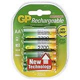 GP Blister de 4 piles rechargeables AA 2700 Series NiMH - min 2600mAhpar GP