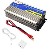 24V MicroSolar 1000W (Peak 2000W) Pure Sine Wave Inverter - with Remote Wire Controller - with 2 Foot Battery Cable