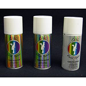 Chefmaster Edible Spray One 2-ounce Can Kosher Certified - Pearl from CK PRODUCTS