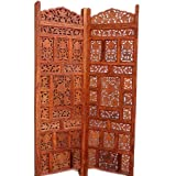 Aarsun: Hand Carved Sheesham Wood Partition Screen / Room Divider 130