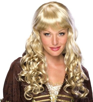 New Adult Costume Wigs Dirty Blonde Long Curly Sexy Wig