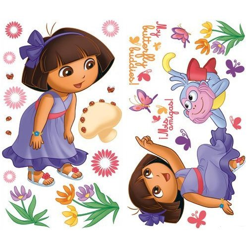Nickelodeon Dora the Explorer Self Stick Rainbow Stars Appliqué