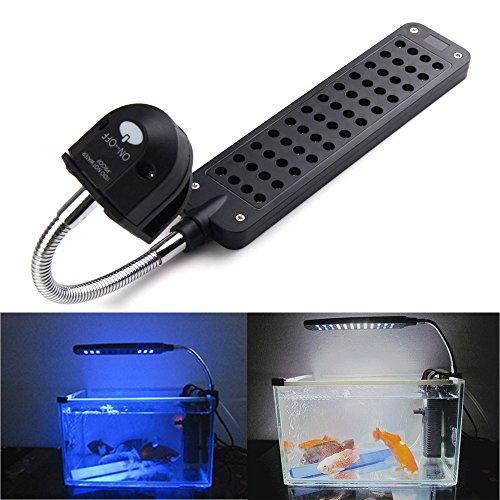 Vktech 3.5W Led Touch Sensor Aquarium Clip Light Lamp For Coral Reef Aquatic Animals (Us Plug)