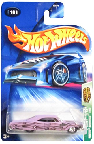 Hot Wheels 2004 Treasure Hunt 1965 Purple Pontiac Bonneville 1/12 #101 Limited Edition 1:64 Scale Collectible Die Cast Car - 1