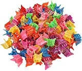 100 Pack Of 90s Butterfly Hair Clips, 90s Accessories Hair Clips, Bulk Small Butterfly Hair Clips