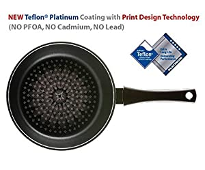 TeChef - Blooming Flower Frying Pan, with Teflon Platinum Non-Stick Coating (PFOA Free) / Ceramic Coated Outside