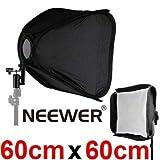 NEEWER 24 inch 60X60cm Portable Professional Softbox Kit for Flash Speedlite Nikon