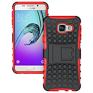 Samsung Galaxy A5 ( 2016 Edition ) - Stylish Heavy Duty Hard Back Armor Shock Proof Case Cover with Back Stand Feature & Free Screen Protector by Accessories Collection
