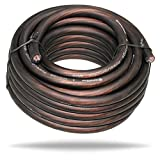 InstallGear 4 Gauge Ga Awg Black 25ft Power or Ground Cable True Spec and Soft Touch Wire