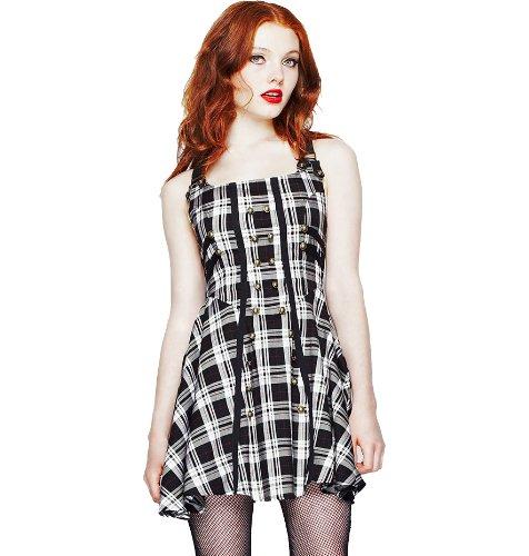 Hell Bunny Black Rock Dress S - UK 8