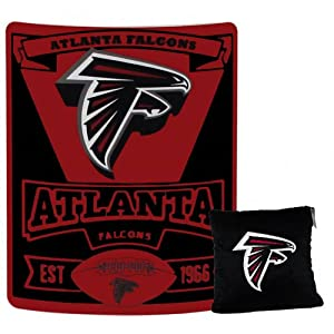 A set of 2 Piece Gift Set: 1 NFL Team Pillow and 1 NFL Fleece Throw Team Blanket -... by Pacific Northwest Auto Group