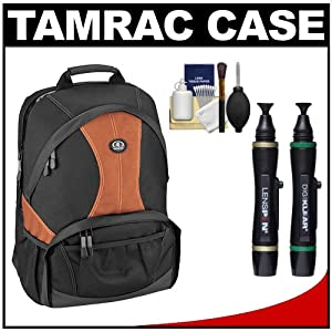Tamrac 3380 Aero 80 Photo / Laptop Digital SLR Camera Backpack (Rust) with Lenspens + Cleaning Kit for Canon EOS 70D, 6D, 5D Mark III, Rebel T3, T5i, SL1, Nikon D3200, D5200, D5300, D7100, D600, D800, Sony Alpha A65, A77, A99