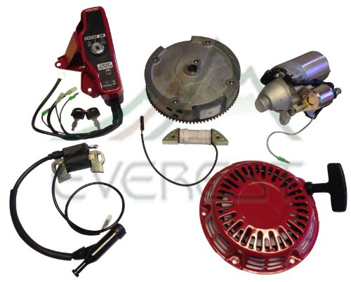 New Honda Gx160 5.5Hp & Gx200 6.5Hp Electric Starter Motor Kit With Recoil Ignition Coil Flywheel Ignition Switch Box With Keys
