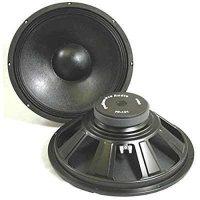 Podium Pro PP151 15-Inch Pair Subwoofers Pro Audio DJ PA Karaoke Band Replacement from Podium Pro