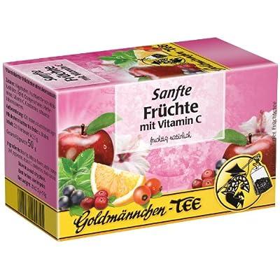 Goldmännchen Tee Sanfte Früchte mit Vitamin C, Früchtetee, 20 einzeln versiegelte Teebeutel von H & S Tee-Gesellschaft mbH - Gewürze Shop