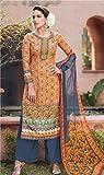 Anbazaar Yellow Cotton Silk Dress Material