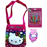 Hello Kitty Reward Gift Set Childrens Bag With Hello Kitty Lip Balm Set And Hello Kitty Charm Bracelets Colors...