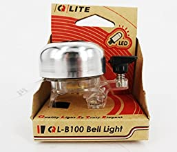 Bicycle Bell Bicycle Front LED Light Silver