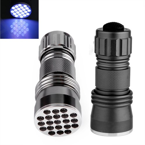 Hde 21 Led 395 Nm Uv Ultra Violet Blacklight Detection Flashlight For Spotting Scorpions And Bed Bugs, Counterfeits, A/C Leaks And Pet Stains