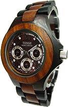 Tense Solid Wood Multi Eye Hypoallergenic Wrist Watch Mens G4300DS ANDF