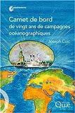 echange, troc Joseph Coïc - Carnet de bord de vingt ans de campagnes océanographiques