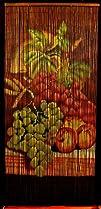 Bamboo Beaded Curtain Fruit Grapes Ki…