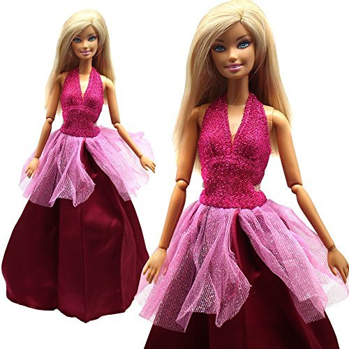 Princess Evening Wedding Party Dress Clothes Gown Outfit for Barbie Doll Xmas Gift