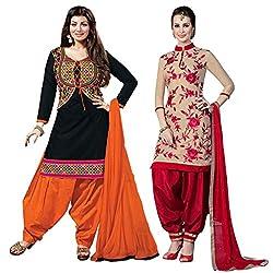 Ruaab Fashion Women Designer Dress Materials Combo(RF_AD_497)
