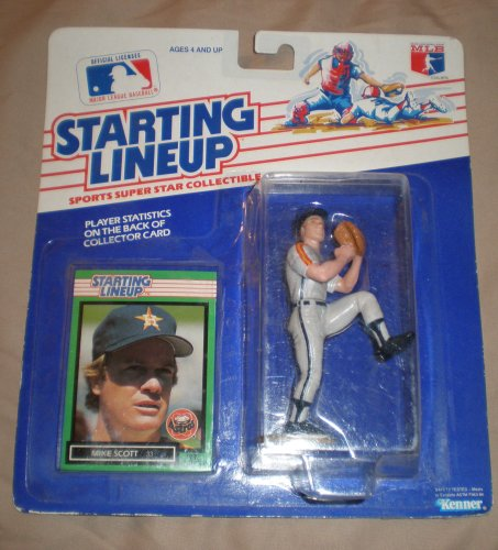 1989 Mike Scott MLB Baseball Starting Lineup Figure - 1