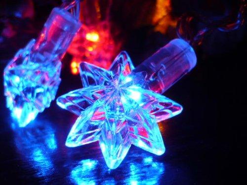 Orange Tree Trade Multi Color Star Led String Lights; Led Christmas Lights; Party Lights