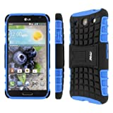 Empire Mpero Collection Tough Rugged Kickstand Case for LG Optimus G Pro - Black/Blue