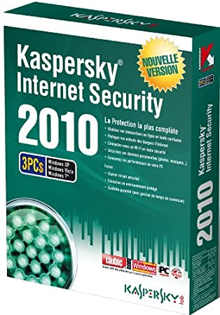 Kaspersky internet security 2010 (3 postes, 1 an)