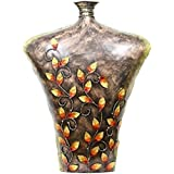 APKAMART Metal Vase & Showpiece - 28 Inch Height - Bust Style - Hand Painted Pot For Home Decor, Table Decor,...