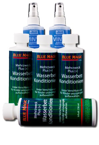 Blue Magic  4x236 Konditionierer Wasserbett + 2 Vinylreiniger