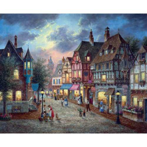 Cheap SunsOut Bearington Street 1500pc Jigsaw Puzzle by Dennis Lewan (B004HSFQ78)