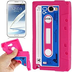 Tape Style Anti-skid Silicone Case for Samsung Galaxy Note 2 N7100 (Magenta)