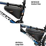 Ibera Bike Black Medium or Large Triangle Frame Bag - For Bike Tube Frame,Quick-Access