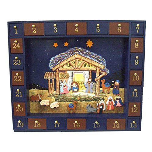 Kurt S. Adler, Inc. J3767 Kurt Adler 16.75 Nativity Advent Calendar, 25 Pieces