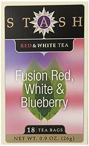 Stash Tea Exotic Tea Six Flavor Assortment, 18 Count Tea Bags in Foil (Pack of 6)