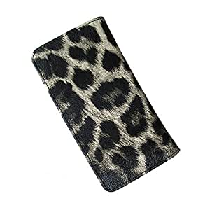 i-KitPit : PU Leather Flip Pouch Case For HTC ONE X / One X Plus (BLACK & GREY SHADE)
